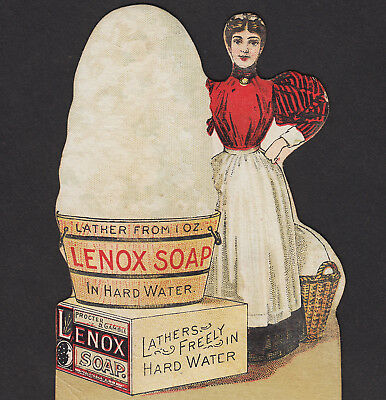 Procter & Gamble Victorian Lenox Laundry Soap RARE DieCut Advertising Trade Card