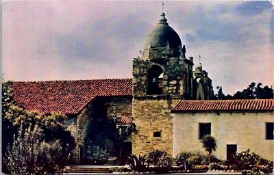 Postcard 1966 California CA Monterey Carmel Mission Founded by Father Serra H-2