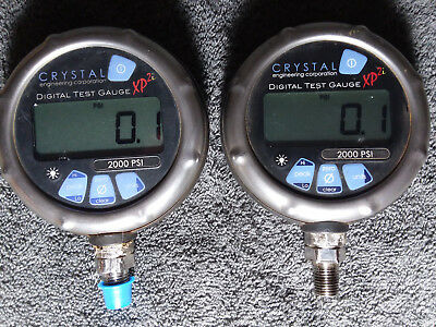 Crystal XP2i 2000psi Digital Test Gauge (TWO) USED