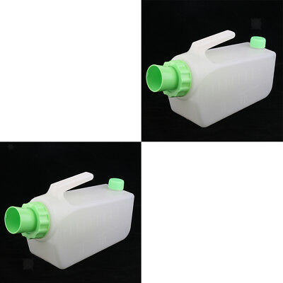 2 Reusable Spill Proof Male Bed Pee Urinal Bottle Emergency Urine Bag Senior