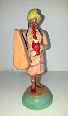 Antique Old Terracotta Clay Hand Indian Tribal Charmer Magician Sculpture Figure
