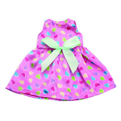 2Pcs Dolls Dress Clothes for 14 inch American Girl Doll Bubble Dress Skirt