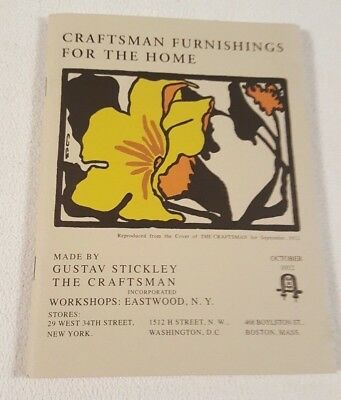 Antique 1912 Craftsman Furnishings for the Home Gustav Stickley Catalog Reprint