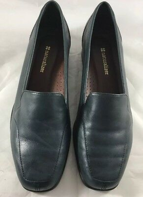 Naturalizer Stockard  Leather Upper Loafers, Navy Blue, Size 8.5M