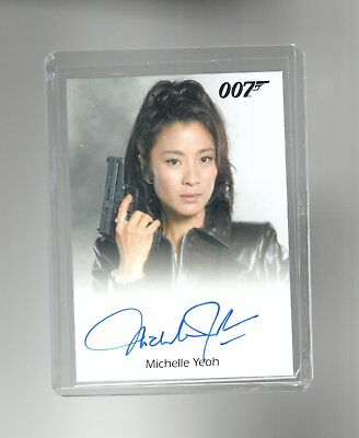 James Bond Archives Final Edition Michelle Yeoh Autographed card