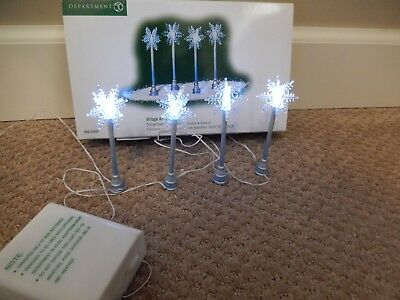 Department 56 Village Snowflake Light Poles - Set of 4 #56.53049 (Free Shipping)