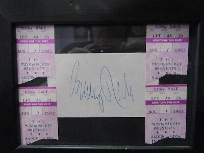 Framed Buddy Rich Autograph from 1982