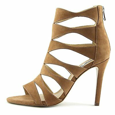 0f40848e08e STEVE MADDEN WOMENS Swyndlee Leather Open Toe Casual Strappy Sandals ...