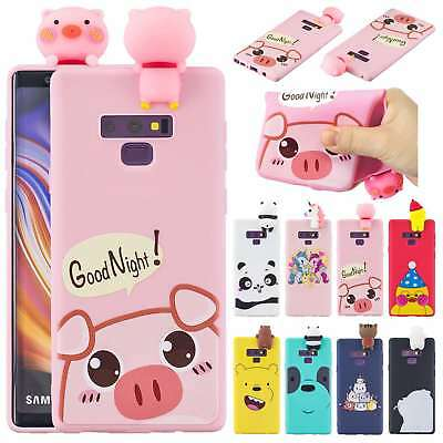 3D Doll Soft Silicone Shockproof Case Cover For Samsung Galaxy Note 9/S9+/S8/S7