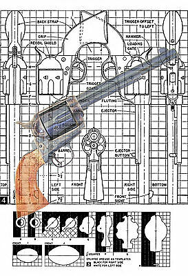 How to Make a wooded scale copy of a Colt 44 Printed Plans & Building Notes