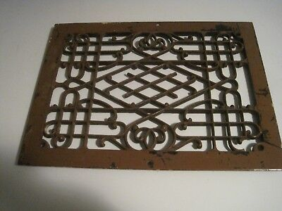 Antique Iron Floor Grate / Register / Heat Vent!