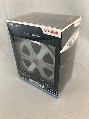 NEW Verbatim DVD-R Recordable DVD 10 Pack Brand New Sealed