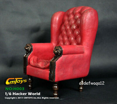 """CMToys 1/6 Red Single Sofa Chair Furniture Model F 12"""" Action Figure Body Dolls"""