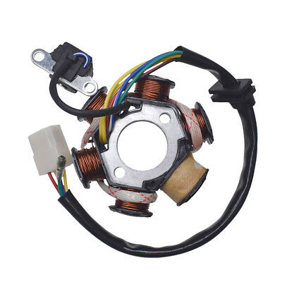 4 Pin Magneto 6 Pole Stator Coil For 50cc 90cc 110cc ATV Scooter Dirt Bike