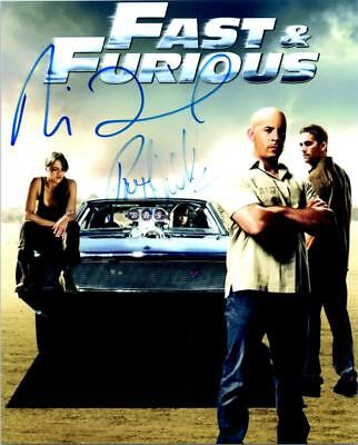 Paul Walker Vin Diesel Signed 8x10 Picture Autographed Photo with COA