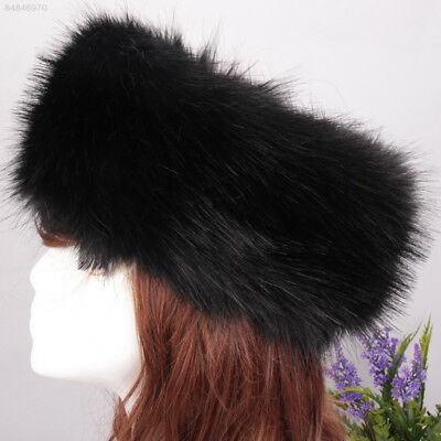 86c96db6fde C07E Women Russian Thick Fluffy Fox FAUX Fur Headband Hat Winter Ear Warmer  .