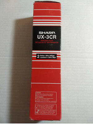 Sharp Fax Machine Imaging Film UX-3CR New In Package 2 Rolls