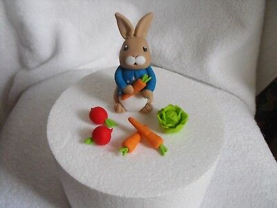 Cake Toppers Edible Peter Rabbit and Veges