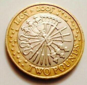 £2 two pound Coin Guy Fawkes Gunpowder Plot 2005 1st FREEPOST+international PRO