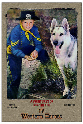 """4""""x6"""" MAGNET PRINT-""""ADV of RIN TIN TIN"""" TV Western Heroes, LEE AAKER"""