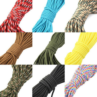 30M 550 Paracord Parachute Cord Lanyard Mil Spec Type III 7 Strand Core100FT or