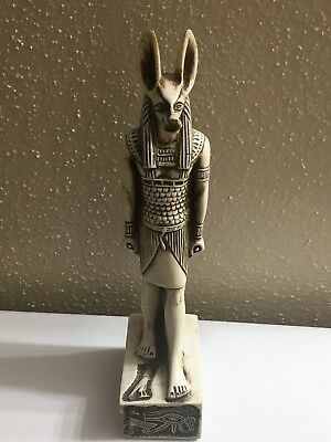 Collectible Statue of Ancient Egyptian Mummification God ANUBIS with jackal Head