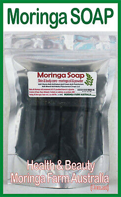 MORINGA SOAP 100G X 6 pieces Australian Grown, Processed, Moringa Oil & Leaves
