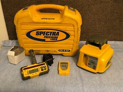 Spectra Precision GL412 Self-Leveling Rotary Laser Level with RC402 & HL700