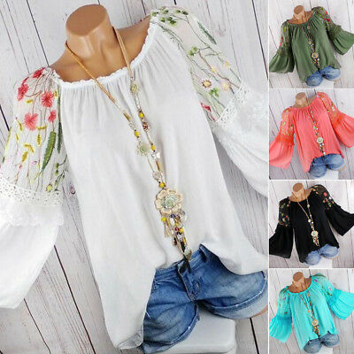 d93ecb210e38a Plus Size Boho Women Long Sleeve Kaftan Baggy Blouse T Shirt Tops Casual  Tunic