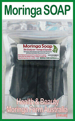 MORINGA SOAP Australian Grown, Processed, Moringa Oil & Leaves 6 pieces
