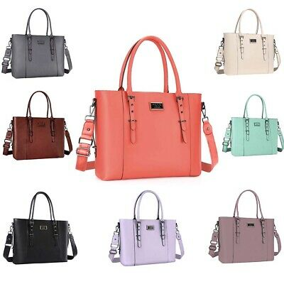 Mosiso Laptop Leather Tote Bag Handbag Women Shoulder Messenger Satchal Bags