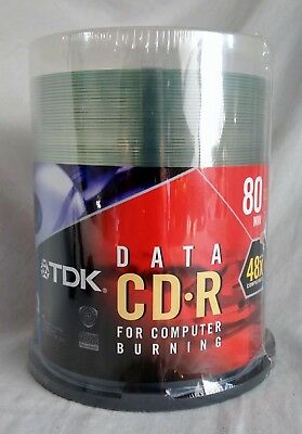 TDK - 100-Pack 700MB 80min 48x CD-R Blank Recordable Disc - NEW
