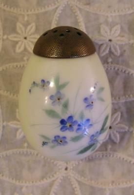 Antique Pairpoint Mt Washington Forget Me Not Opalware Art Glass Sugar Shaker