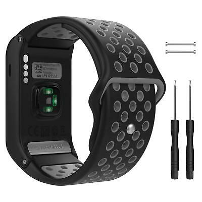 Soft Silicone Sports Replacement Watch Band Wrist Strap for Garmin Vivoactive HR