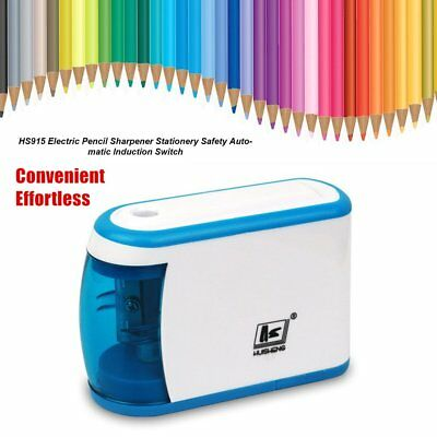 HS915 Electric Pencil Sharpener Stationery Safety Automatic Induction Switch W@