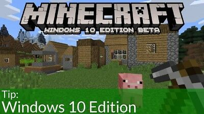 Minecraft Windows 10 Edition PC Digital Download Key