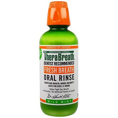 TheraBreath Fresh Breath Oral Rinse 473ml Mild Mint mouthwash bad halitosis