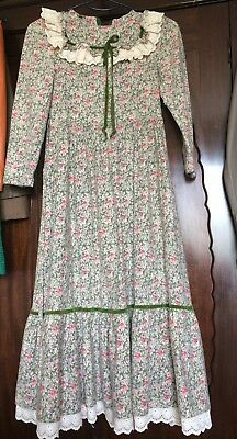 French Vintage Girl Dress, Flower Dress,Theatre,Museum,Acting