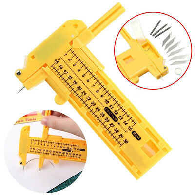 Compass circle cutter PVC yellow color 1-30CM diameter pack of 1 set A33