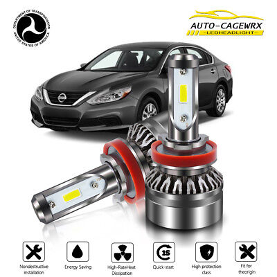 H11 Bulb LED Headlight 6000K 60W 12000LM Low Beam For 2007-2018 Nissan Altima