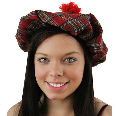Ladies Tam O'shanter Hat Scottish Fancy Dress Costume Burns Night St Andrews Day