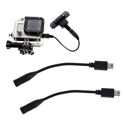 Mini USB to 3.5mm Mic Microphone Adapter Cable Cord for Camera Gopro Hero 3 IUA