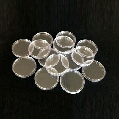 10/100pc 40mm Applied Clear Round Cases Coin Storage Capsules Holder Round Style