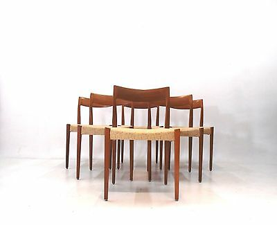 6 Set Teak Dining Chairs Yngve Ekström for Troeds 60 er Jahre