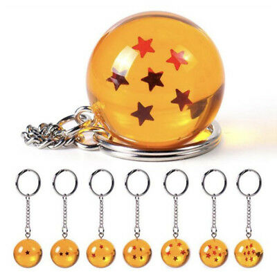 Dragon Ball Z DBZ Cosplay Crystal Ball 1-7 Stars Keychain Keyring Pendant Gifts