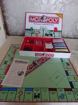 Board Game Parker 2003 Traditional Monopoly Property TRading Game Complete