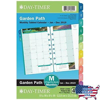 "Day-Timer 2019 Monthly Planner Refill, 5-1/2"" x 8-1/2"", Desk Size 4, Loose Leaf,"