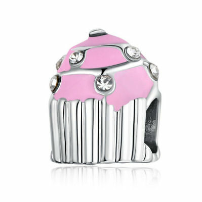 NEW European Silver plated Charm Bead Fit sterling 925 Necklace Bracelet D#142