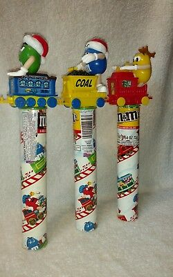 M&M's Christmas Train Candy Tube Toppers Lot Of 3