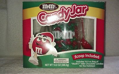 M&M's Christmas Candy Jar